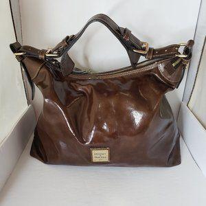 Vintage Dooney & Bourke Patent Leather Hobo Bag
